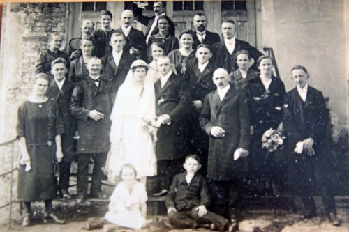 Wedding Josef Löffler and Klara Basler on 10/24/1925